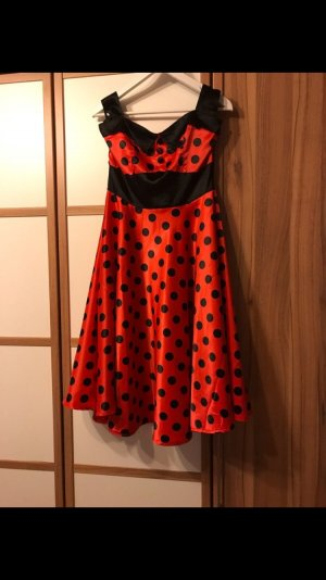 Hell Bunny Petticoat Dress black-red