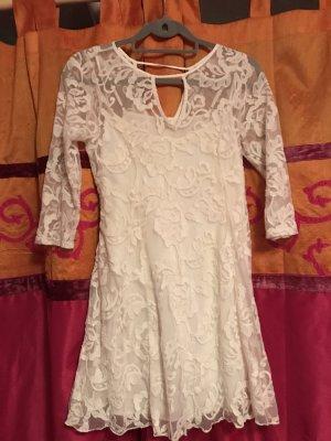 Kleid von Hollister - Spitze - cremefarben !