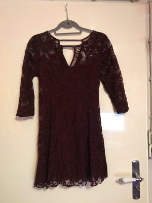 Kleid von Hollister - Spitze - weinrot !