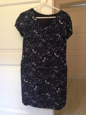 Ikks Shirtwaist dress white-dark blue polyester