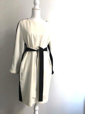 Intrend Vestido camisero negro-blanco puro