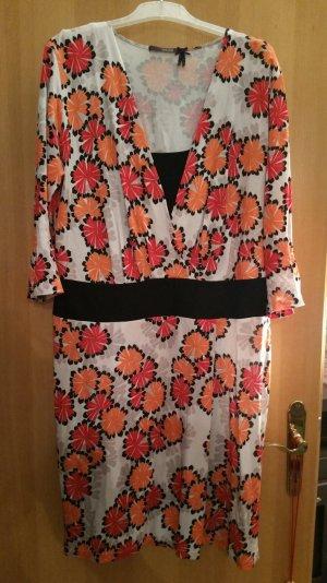 Kleid von LAUREL (Escada Konzern)Blütenzauber in orange u rot