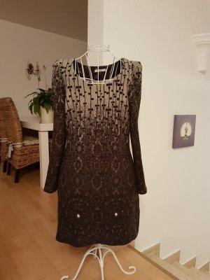 Lavand Vestido de lana negro-gris