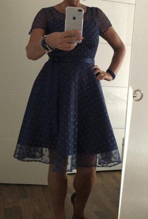 Lindy Bop Babydoll Dress steel blue