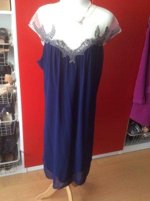 Kleid von Little Misstress in 52, mitternachtsblau mit Tuelloberteil