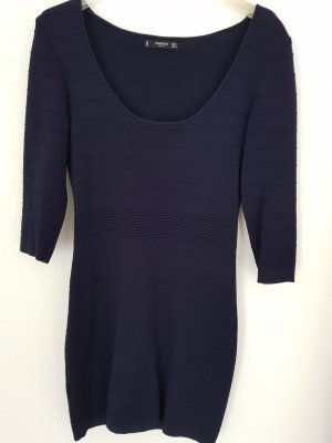 Mango Vestido de lana azul-azul oscuro
