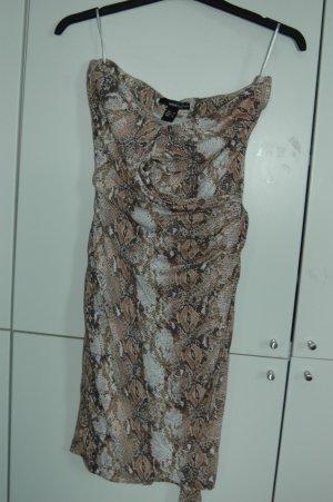 Kleid von Mango mit Animalprint Schlangenmuster, Wickelkleid M Trägerlos
