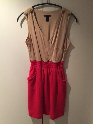 Kleid von Mango #rot/beige