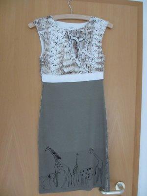 Kleid von Marc Cain - AFRIKA - Snakeprint & Giraffen Größe N1/Gr. 34