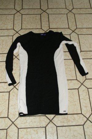 Mexx Abito di maglia nero-bianco Cotone