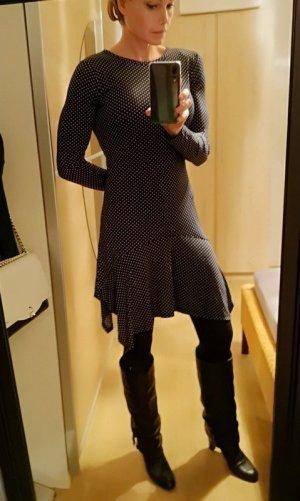 Michael Kors Vestido peplum blanco-negro