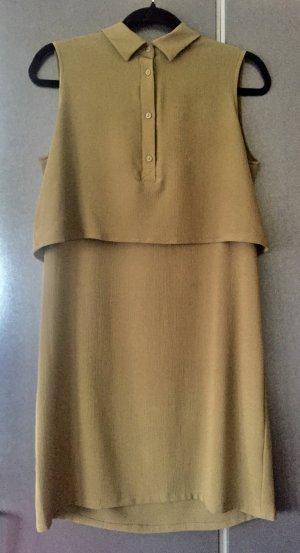 Kleid von Monki mit Kragen waldgrün ärmellos