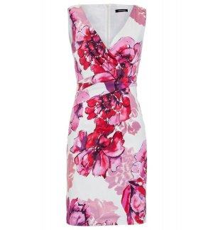 Kleid von MORE & MORE mit XL-Flower Print NEU Gr. 34