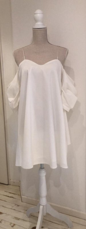 NAANAA London Robe mi-longue blanc