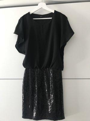 Only Robe à paillettes bleu foncé-noir
