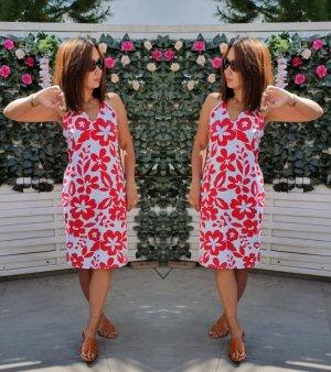 Orsay Off the shoulder jurk wit-rood