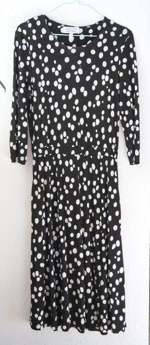 Kleid von & other stories schwarz-weiß gepunktet XS S 34 36 wie COS neuwertig