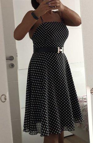 Swing Babydoll Dress black-white
