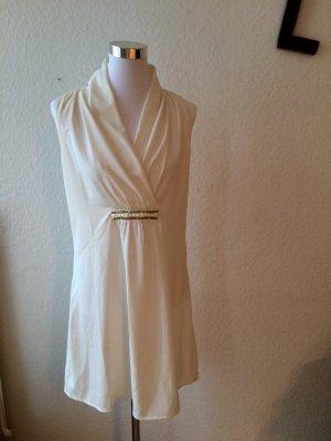 Kleid von Promod weiß Glitzersteine ausgefallener Schnitt Hippie Boho