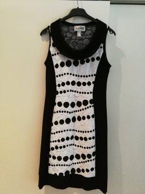Joseph Ribkoff Vestido elástico blanco-negro
