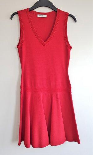 Sandro Paris Stretch Dress red-dark red mixture fibre