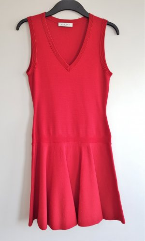 Sandro Paris Vestido elástico rojo-rojo oscuro