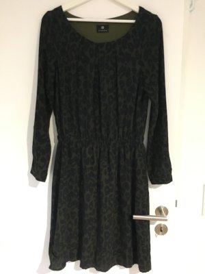 Sienna Jurk met lange mouwen zwart-donkergroen Viscose