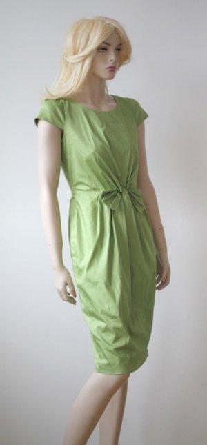 Simple Midi Dress meadow green cotton