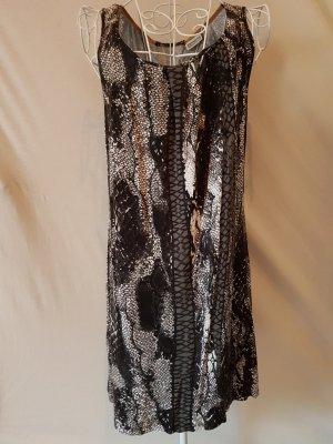 Kleid von Street One Gr. 40 Jerseykleid schwarz/weiß/grau