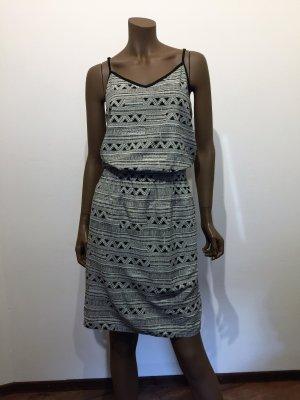 Kleid von Street One, schwarz - weiß gemustert