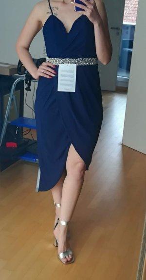 TFNC Chiffon jurk blauw