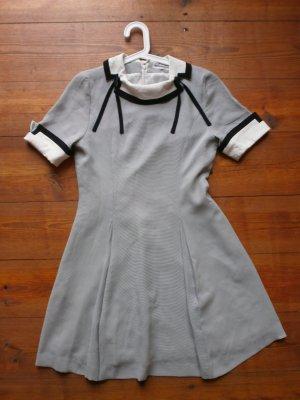 Shortsleeve Dress white-black polyester