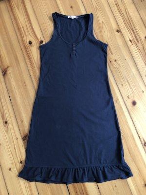 Tom Tailor Denim Off the shoulder jurk donkerblauw