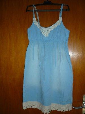 Kleid von Tom Tailor Denim, hellblau-off white, Größe M, neuwertig