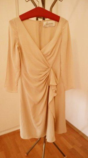 Valentino Spa Midi-jurk wolwit Zijde