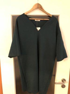 Zara Vestido verde oscuro