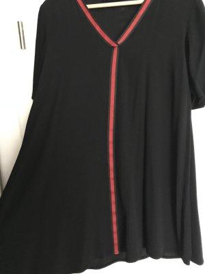 Zara A Line Dress black-dark red