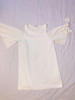 Zara Vestido de cóctel blanco