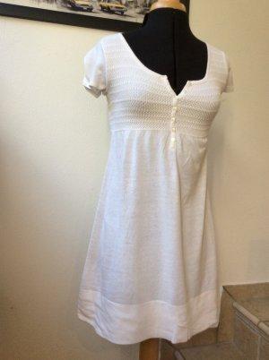 Kleid von Zara, Feinstrick in Weiß, Gr. M