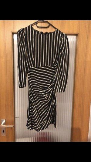 Zara Basic Blousejurk zwart-wit