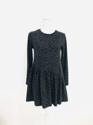Kleid von Zara Kids, Gr. S /13-14j. /164cm, schwarz-grau, leoprint