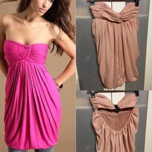 Kleid von zara rückenfrei rose nude gr 36