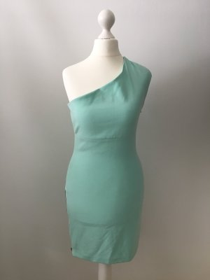 Zara Trafaluc Vestido de un hombro turquesa-menta