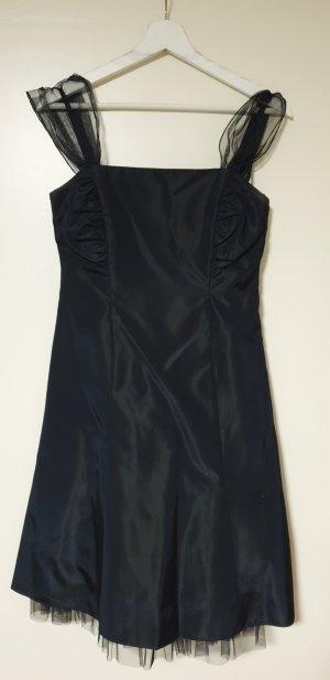 Zero Vestido línea A azul oscuro