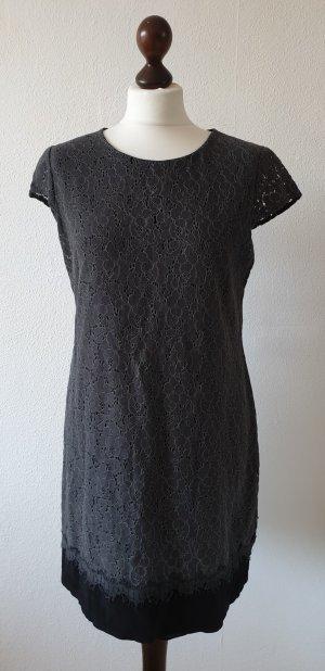 Zero Lace Dress anthracite-black cotton