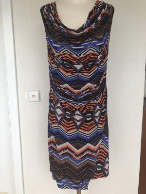 Kleid, Wasserfall-Ausschnitt, Jersey