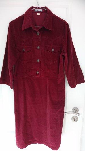 Abito blusa camicia carminio Cotone
