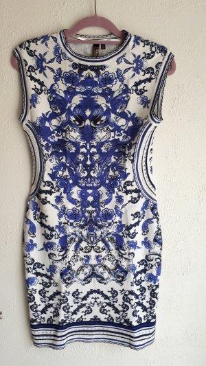 Kleid Weiß / Blau Gr. 36/ 38 * NEU ohne Etikett *