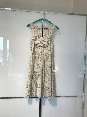 Kleid weiß/grau