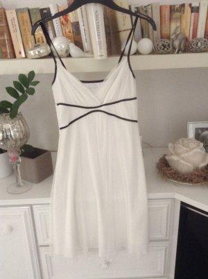 Kleid / weiß-schwarz / Gr. 36 S / Amisu